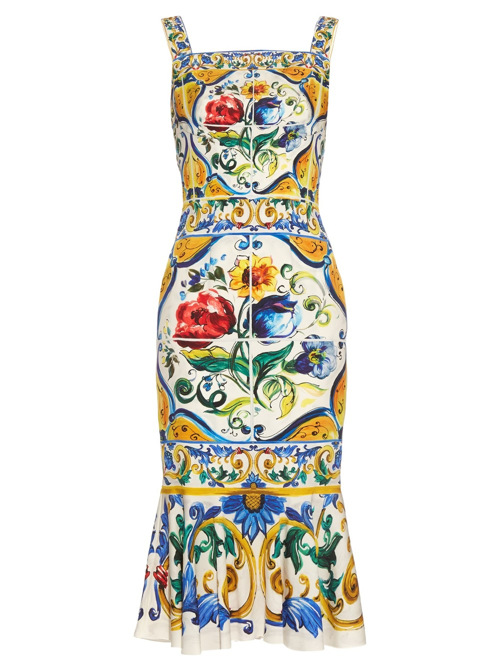 Dolce & Gabbana Majolica-print charmeuse dress, £1,550