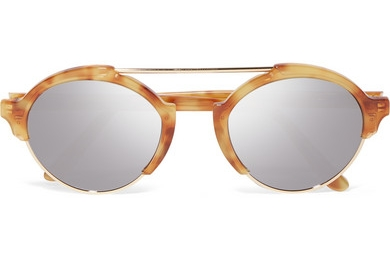 ILLESTEVA Milan III gold-tone and acetate mirrored sunglasses, £245