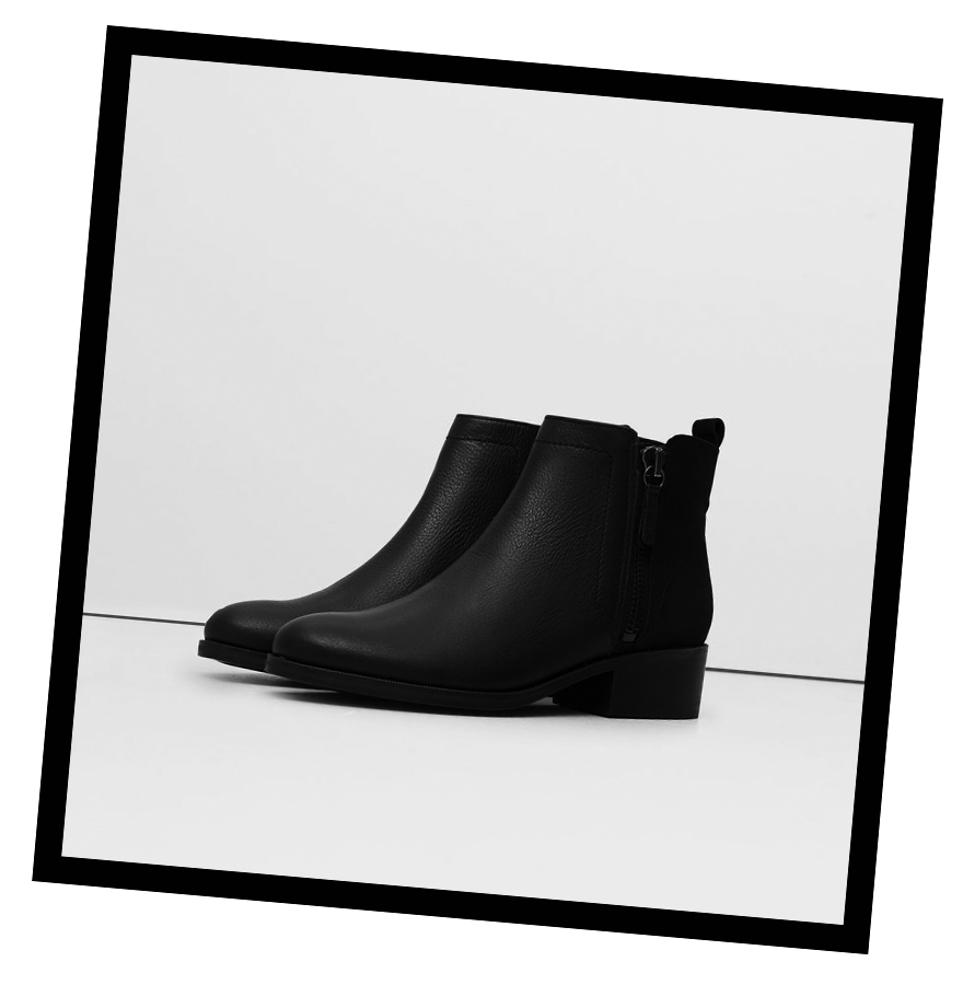 Contrasting leather ankle boots, Mango - £69.99  shop.mango.com/