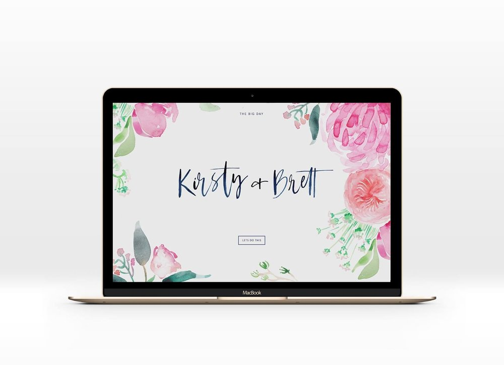 LIVE DEMO - Click the image and wander through one of our latest wedding website designs.