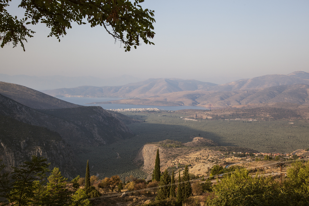 Delphi view from hotel