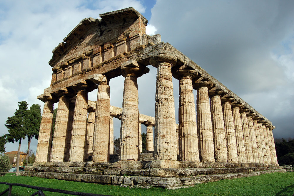 Copy of Temple of Athena at Paestum