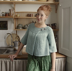 Designed by Yoko Hatta (Kazekobo) for Loop, London. Honeycomb yoke cardi with a really lovely gathered back.   Download from Ravelry Here