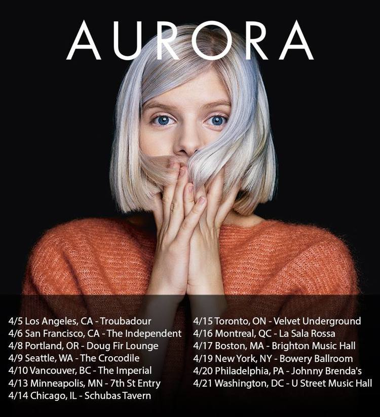 Doors: 9:00PM | $15.00 | 18+ AURORA with Tor Miller
