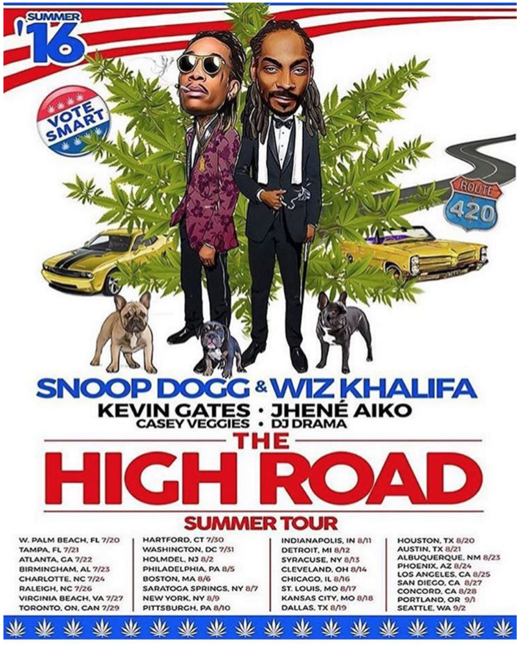 Aug 16 Snoop Dogg Wiz Khalifa The High Road Tour With Kevin