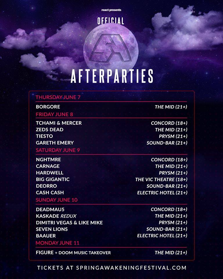 Samf june 9: samf official after parties — these days