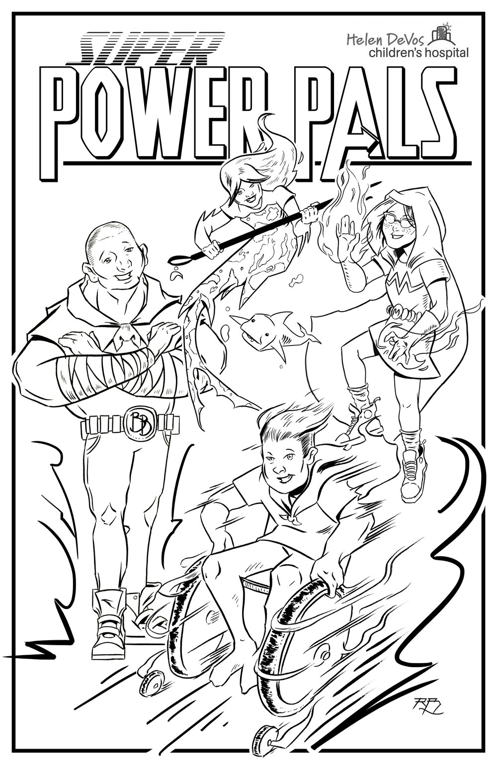 Childrens hospital coloring book - Cover For The Super Power Pals Comic Coloring Book For The Kids At Helen Devos Children S
