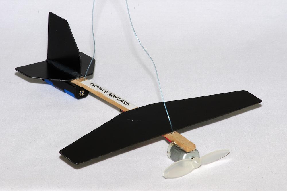 Captive aeroplane model
