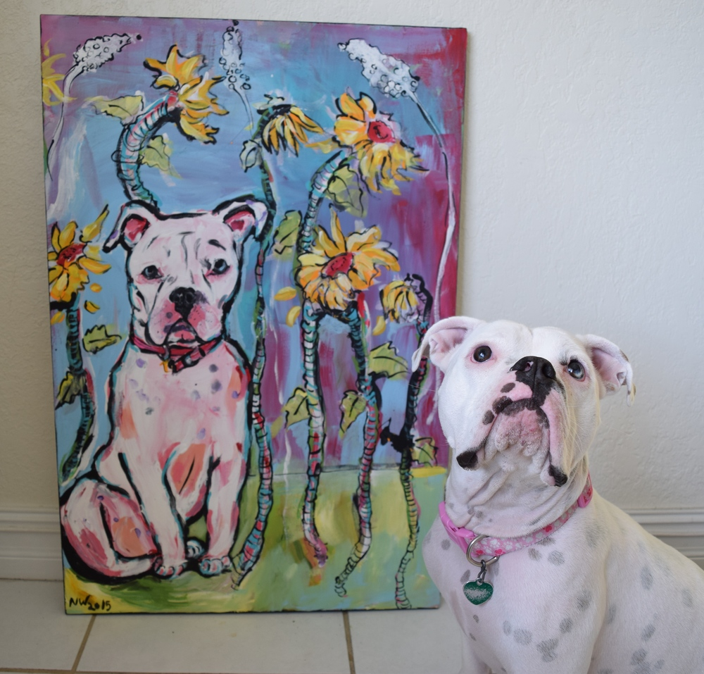 Libby Modeling with Her Painting!