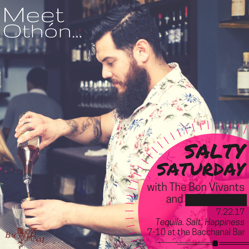 Feeling Salty? Then, join us with Othón from  The Bon Vivants  on Saturday. We'll be tasting Tequila and pairing drinks with all sorts of salts.