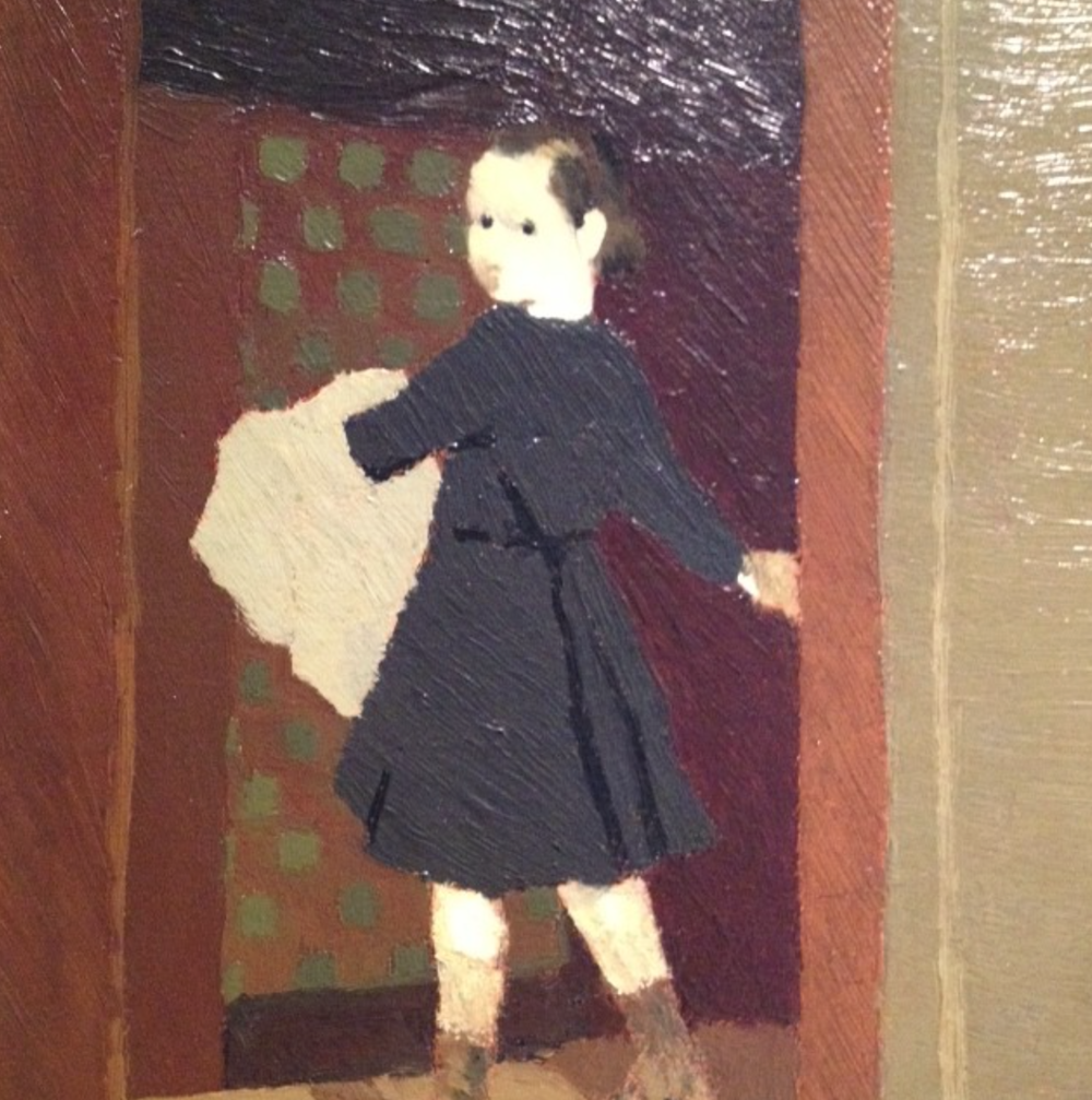 """The Child at the Door"" Oil on Panel 1982   Edouard Vuillard"