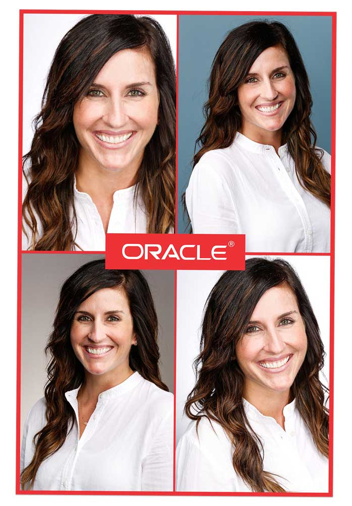 branded headshot prints at trade shows and conventions