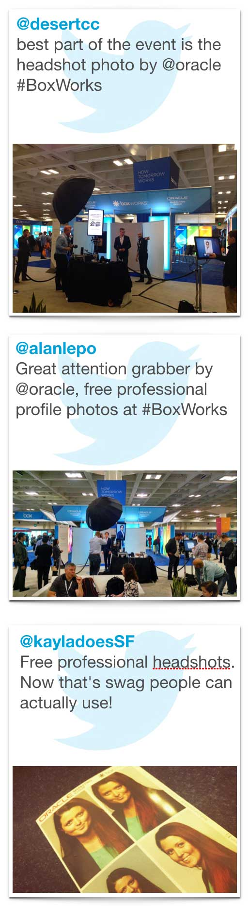branded social media campaigns can have a meaningful impact on head shot booth efficacy at conventions and tradeshows