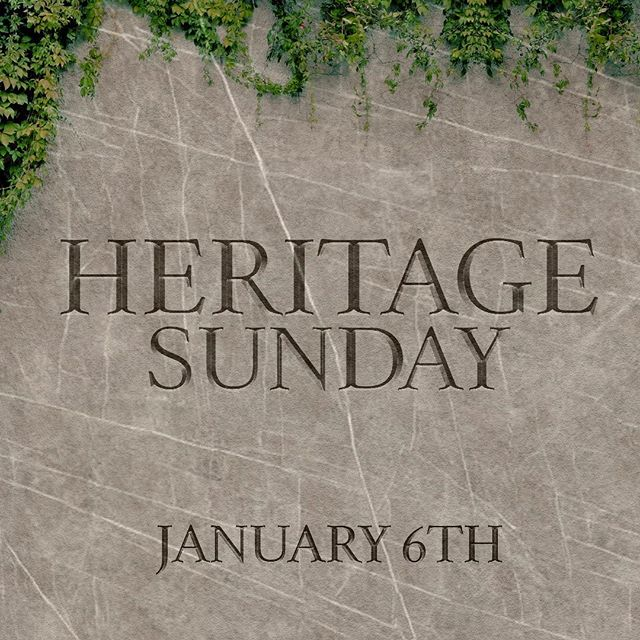 See you this Sunday for Heritage Sunday! The most important thing we can do is make sure our godly heritage is handed down from generation to generation. #wearePOM #webelieve #letsdothis