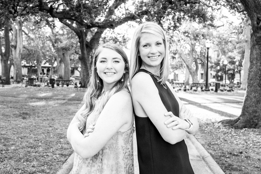 Catharine & Ansley Sisters Family Session Downtown Mobile