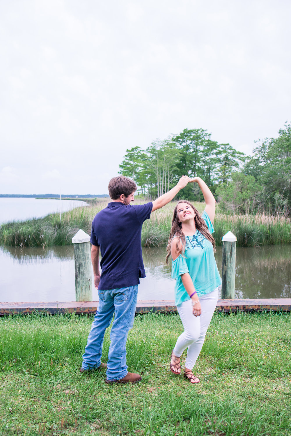 Callie & Jordan Engaged Foley Alabama Swift Cole Historic Home