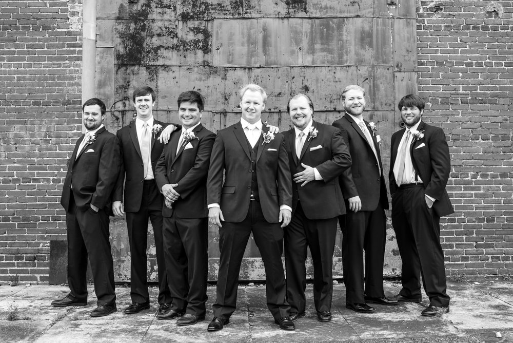 Nathan and Meghan Greensboro Alabama Weddings May Groomsmen