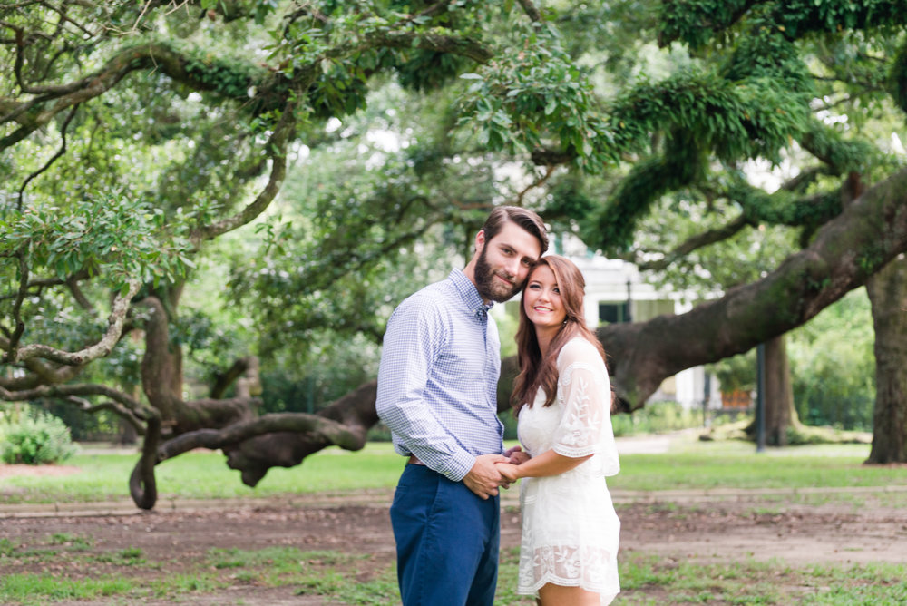 Stephanie and Ryan Engaged Washingston Square Mobile Alabama