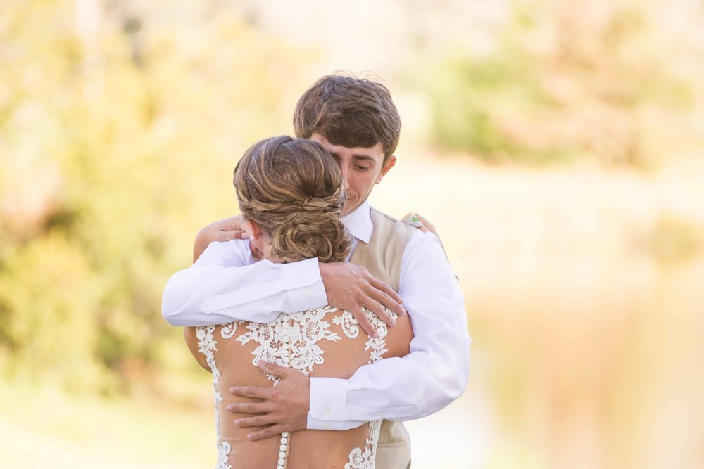 Jordan and Callie The Lake at Oakhill Ethel Lousiana November Wedding First Look