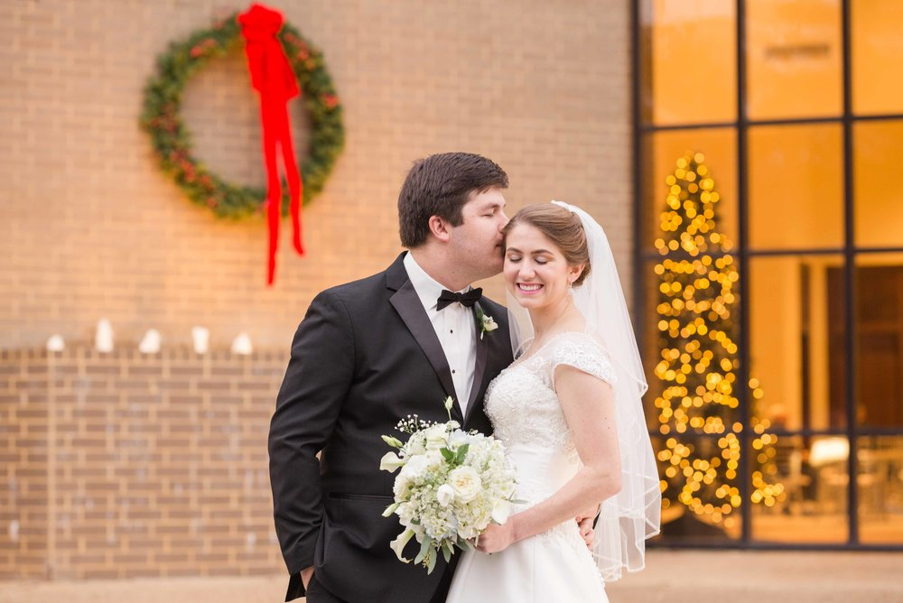 Mary and Adrian Eves December Wedding Mobile Alabama