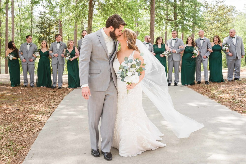 April Wedding Bridal Party Alabama Weddings Deborah Michelle Photography