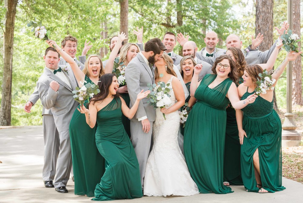 April Bridal Party Mobile Alabama Wedding Deborah Michelle Photography