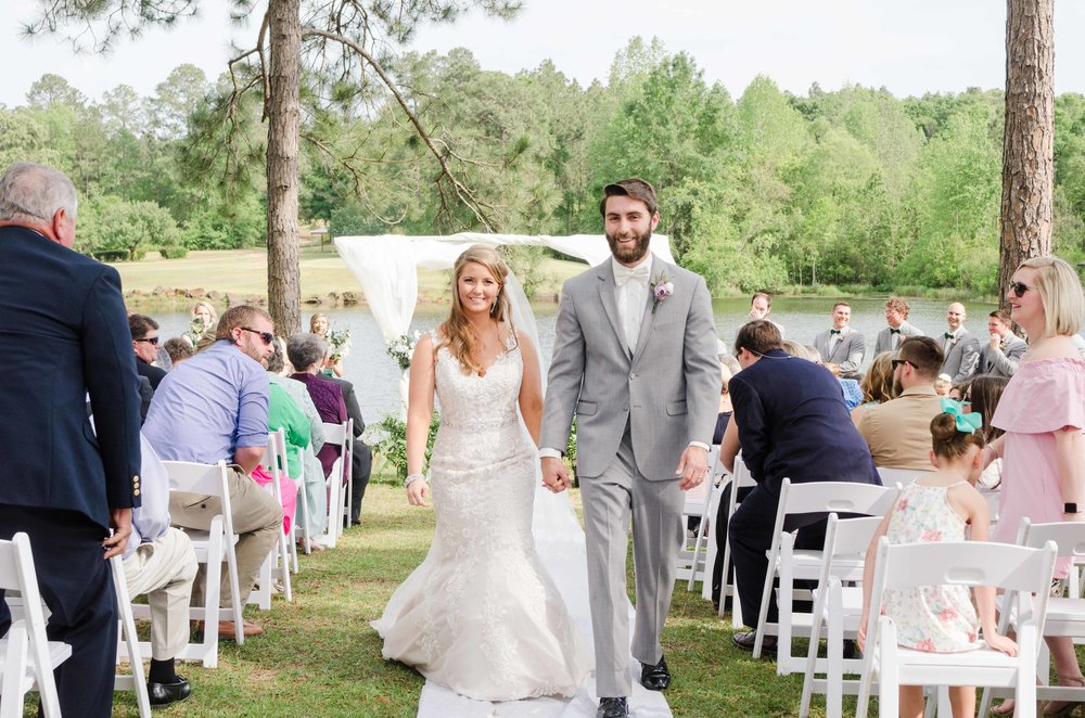 Just Married April Wedding Citronelle Community Center