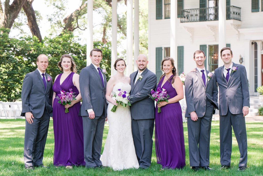 Bragg-Mitchell Mansion Mobile Alabama Wedding Bridal Party