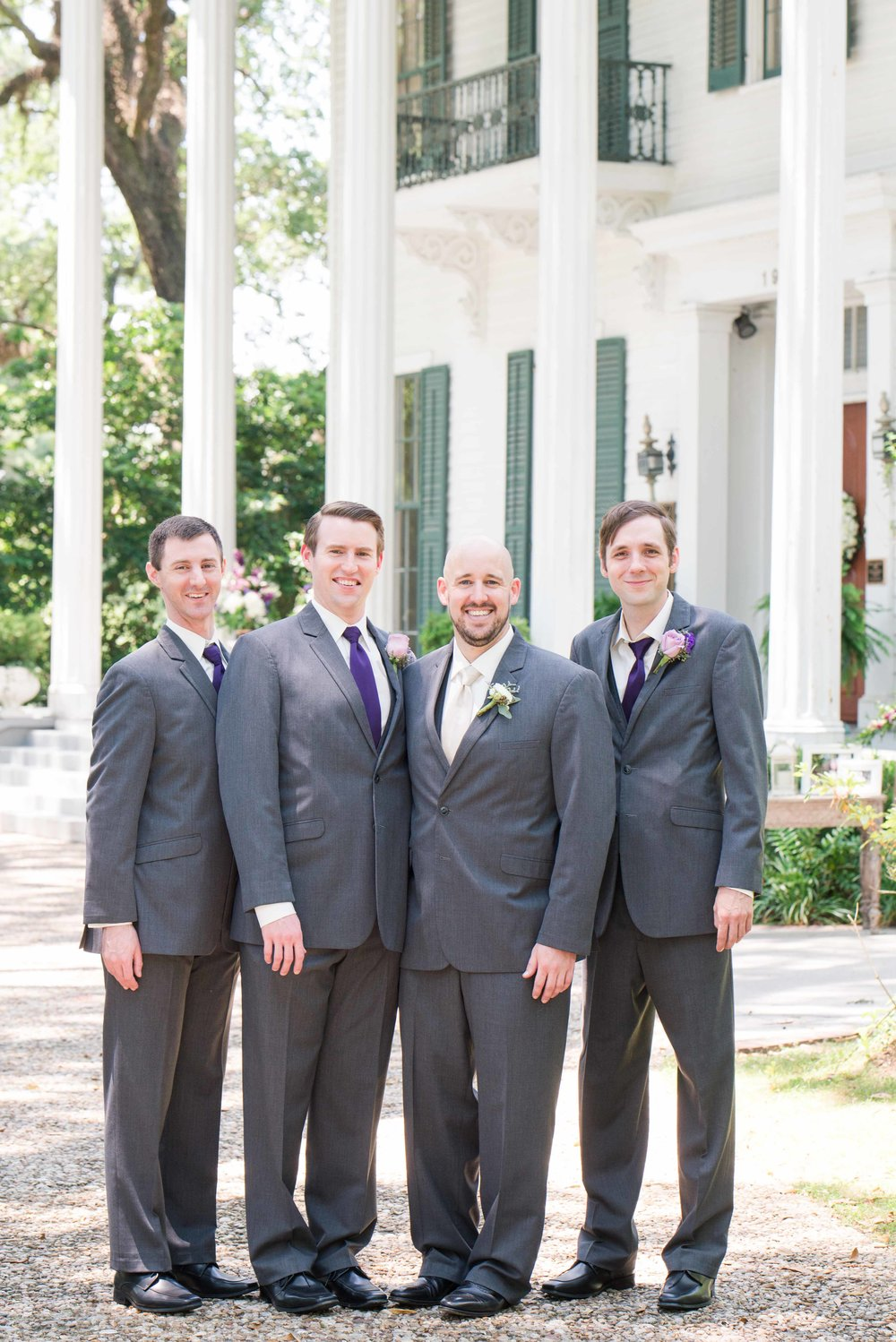 Bragg-Mitchell Mansion Mobile Alabama Wedding Groomsmen