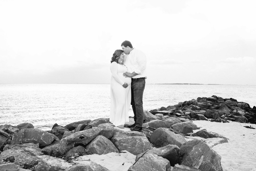 Tracy & Jonathan Maternity Session Dauphin Island Alabama