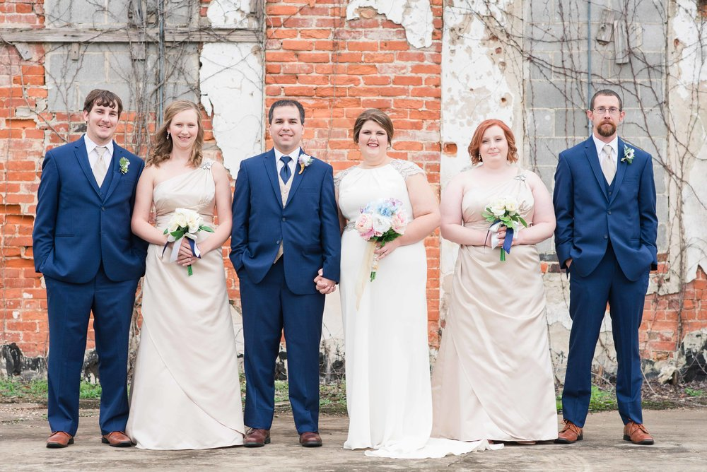 Katie and Brandon Bridal Party Greensboro Alabama Wedding Deborah Michelle Photography