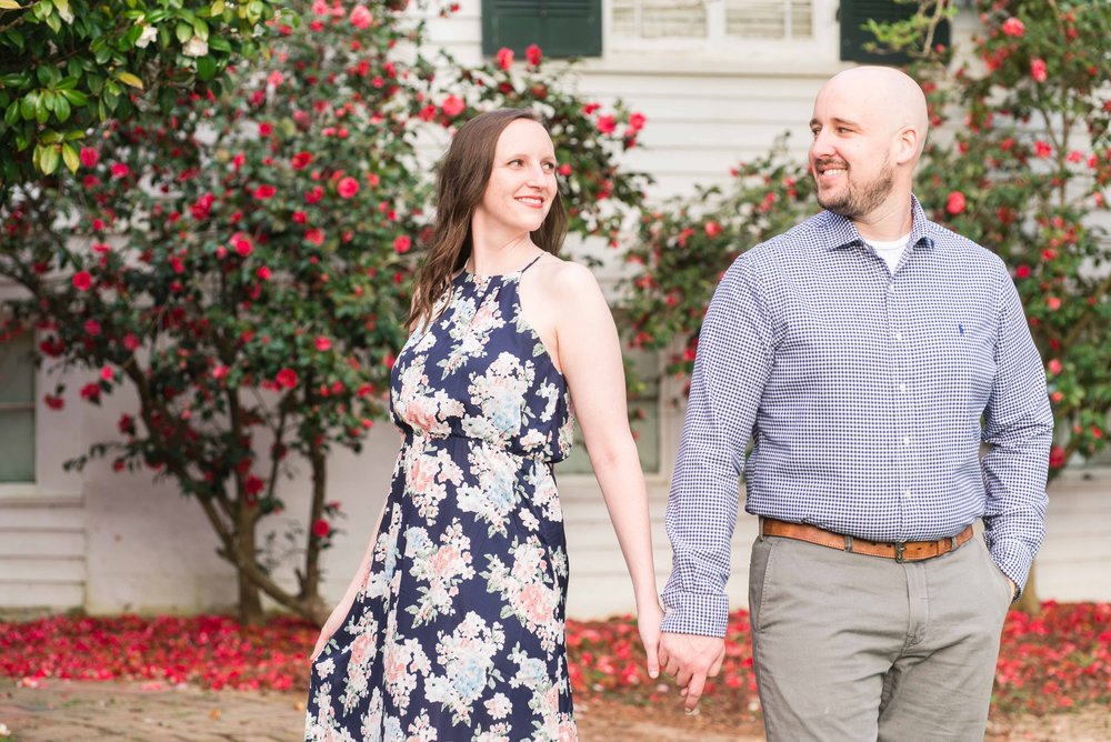 Deborah Michelle Photography 2018 Springhill College Mobile Alabama Engagement Portrait Session