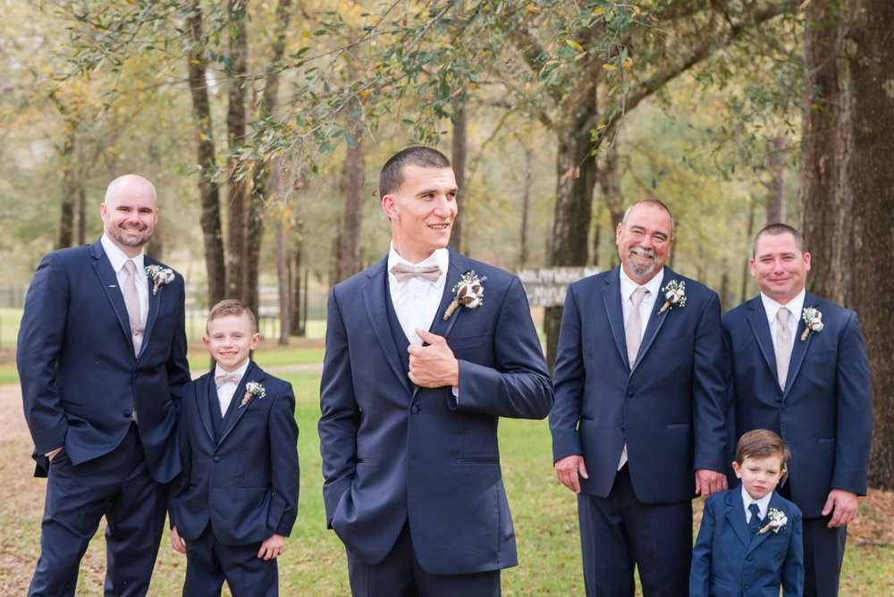 Deborah Michelle Photography 2018 Groomsmen Watson Farms Mobile, Alabama Wedding