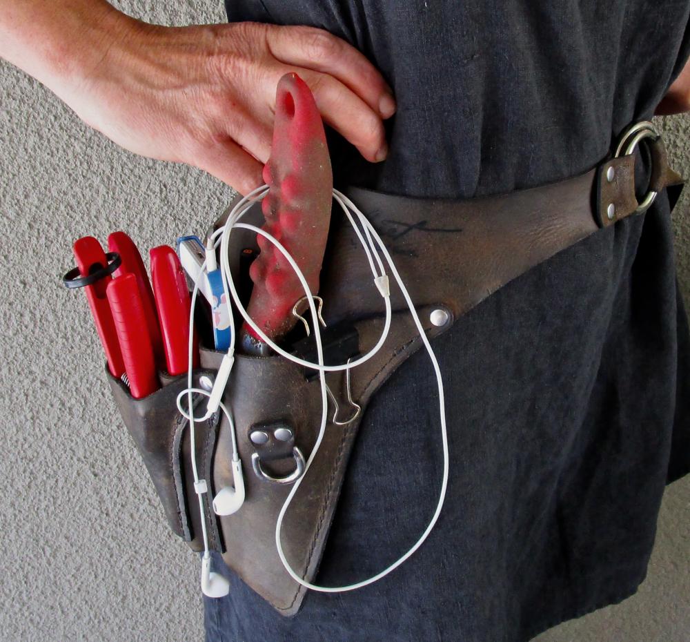 Flower-farmer tool belt from Floret via Wheeler Munroe