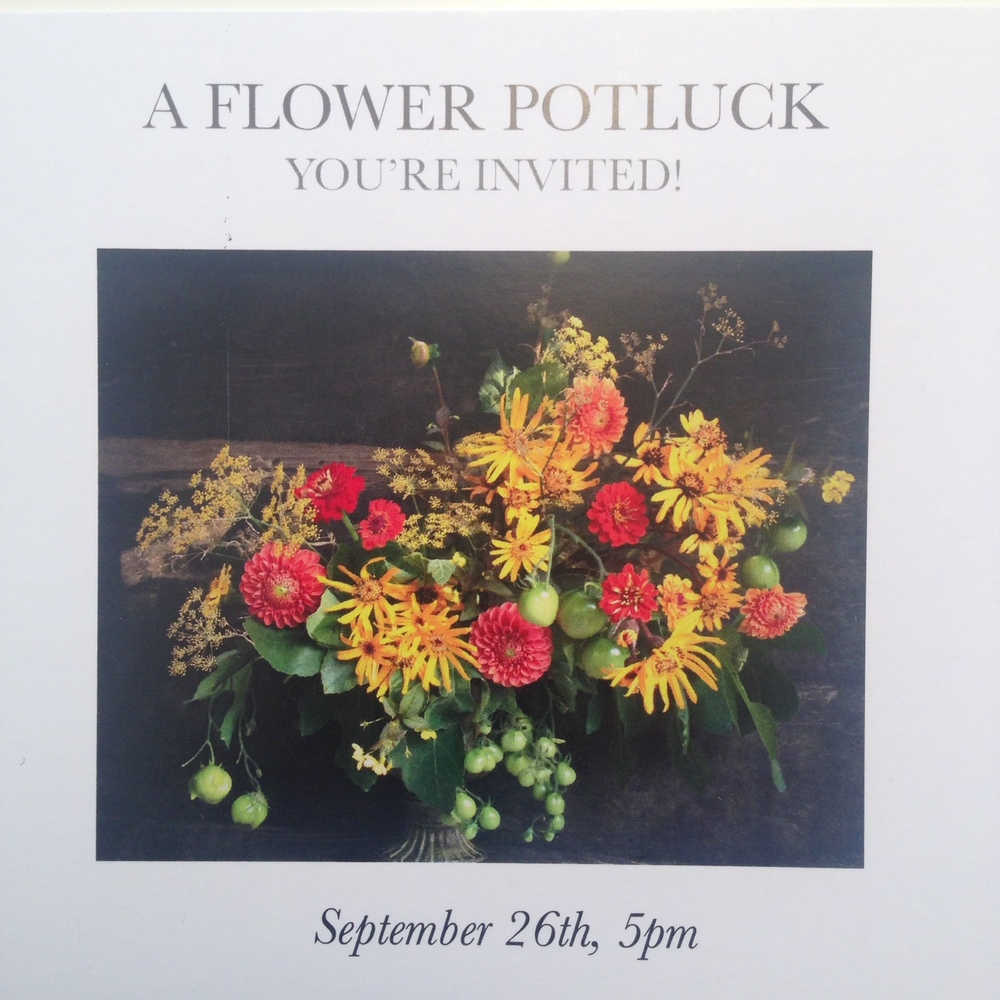 A Flower Potluck Cultivated