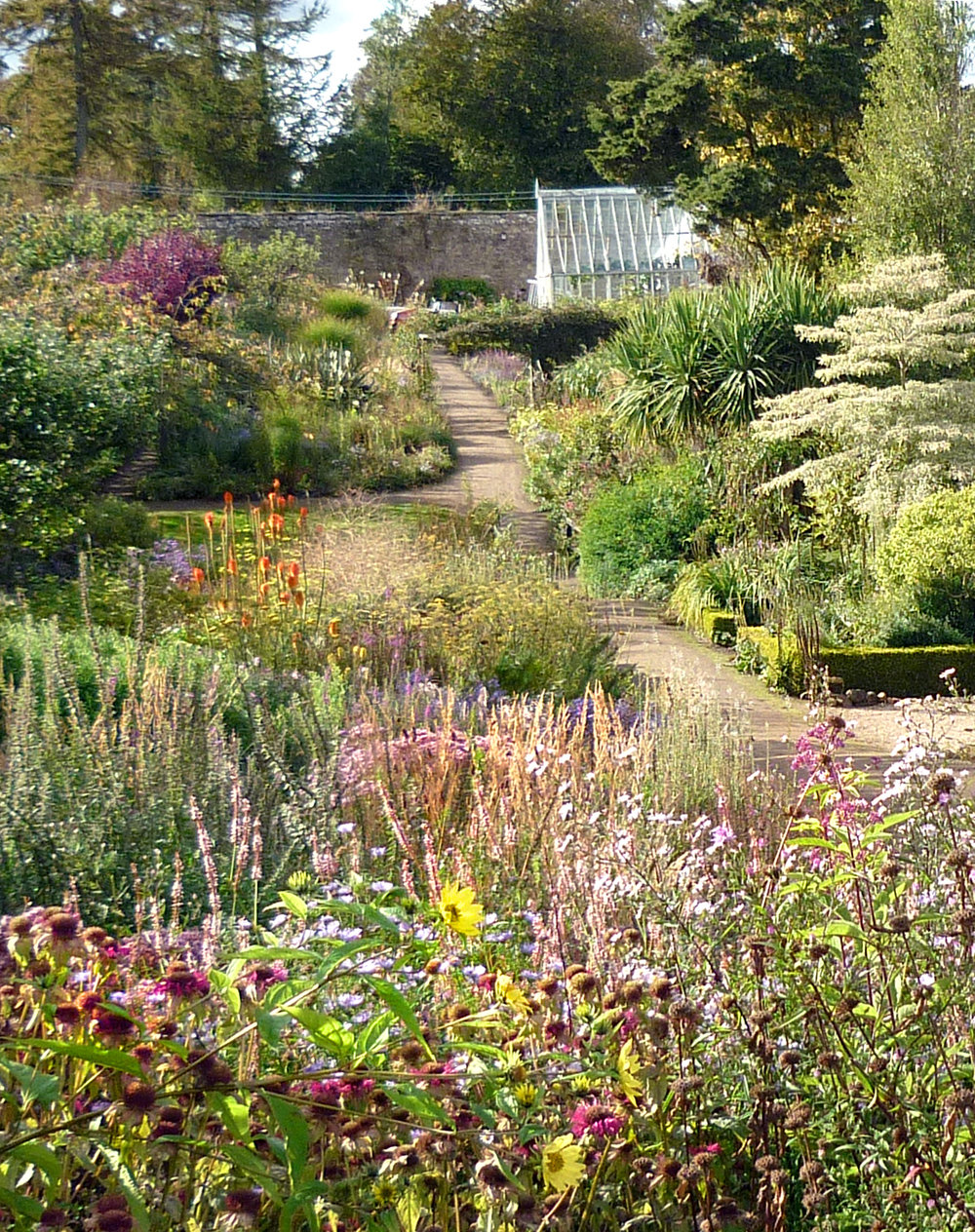 Late September in the walled garden. Photo courtesy of Sir Peter Erskine