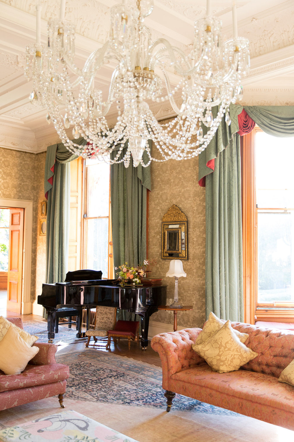 The drawing room. Photo by Helen Warner Photography