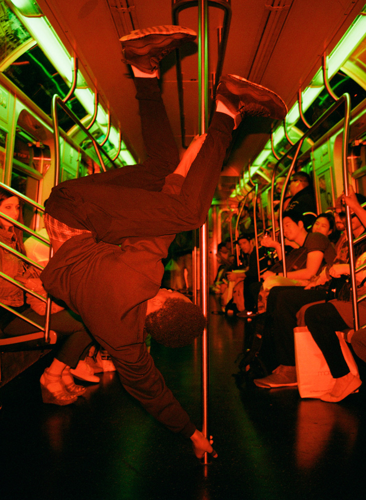 Subway performers dance illegally for tips on the New York City subway. The work is risky but performers can make up to $150 per day, Dazed and Confused