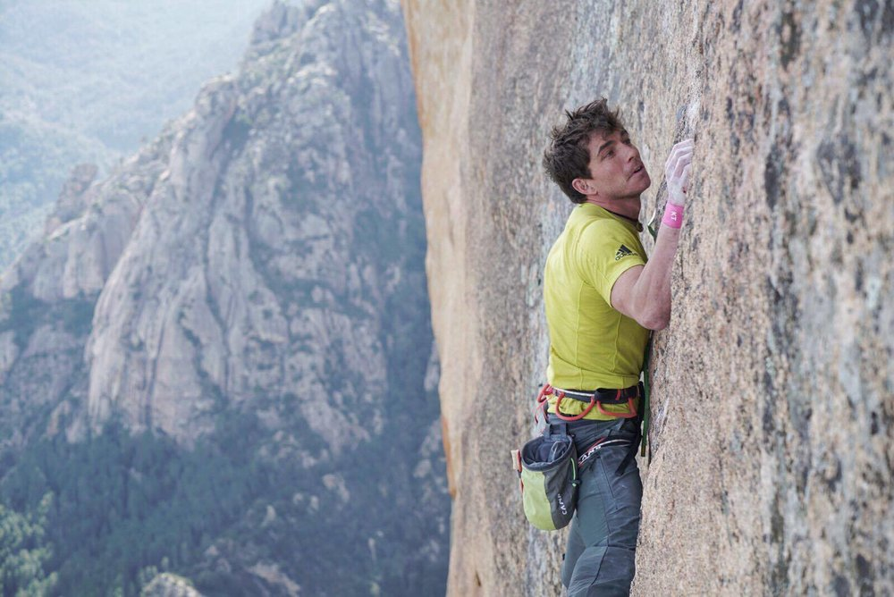Redpointing a three year goal Delicatessen 8b+ (photo: Jeff Rueppel)