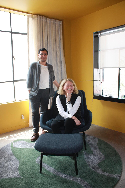 Beata Nowicka y Luis Rojas