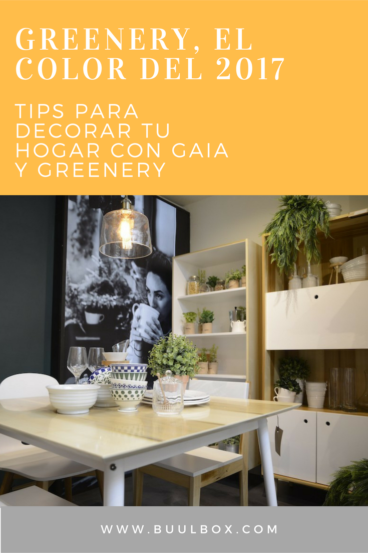 Tips para decorar tu hogar con Greenery y Gaia