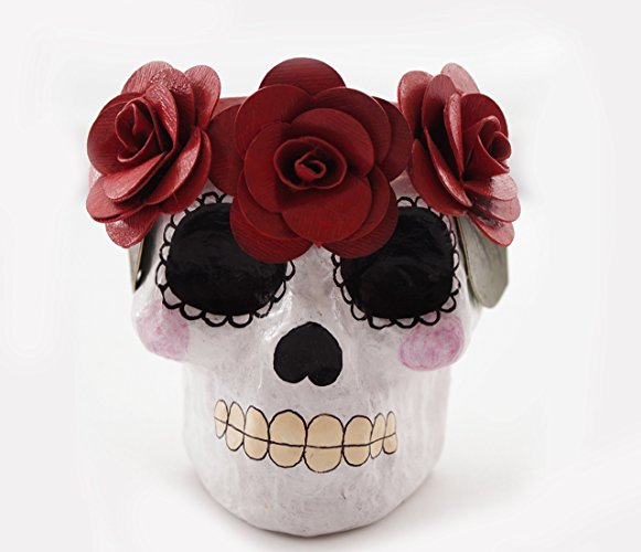 Maceta Calavera Papel Maché - NO DISPONIBLE