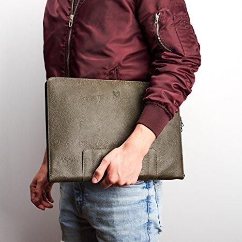 Portafolio cuero verde - MXN $2,319