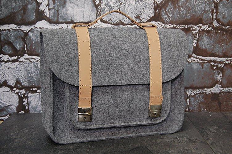 Bolsa satchel de fieltro - MXN $988