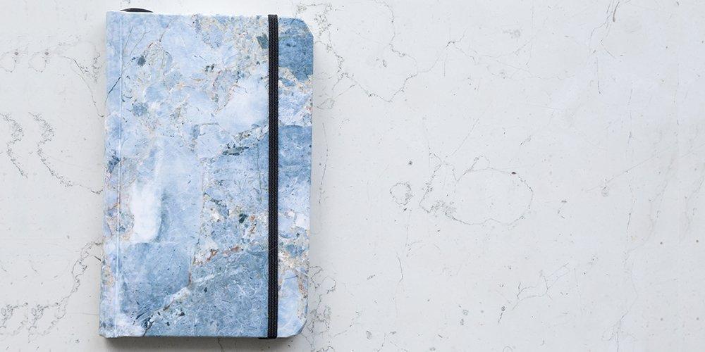 Cuaderno Papel de Piedra Mármol Azul - MXN $200.00