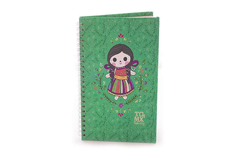 Libreta Diseño Muñequita Mexicana - MXN $180.00