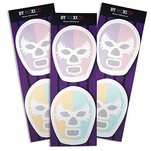 Notas Adhesivas de Máscara de Luchador - MXN $240.00