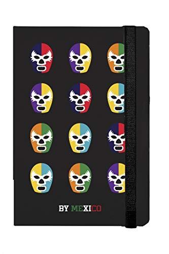 Libreta Rayada Máscaras de Luchador Colores - MXN $289.00