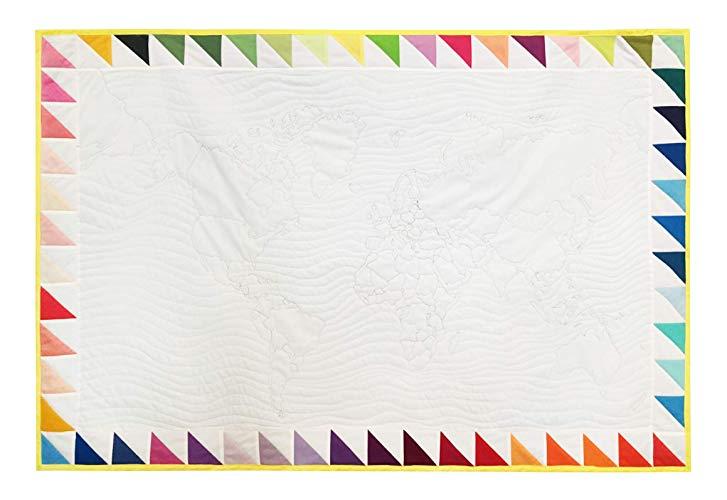 Colchita Patchwork Mapamundi - MXN $2,200