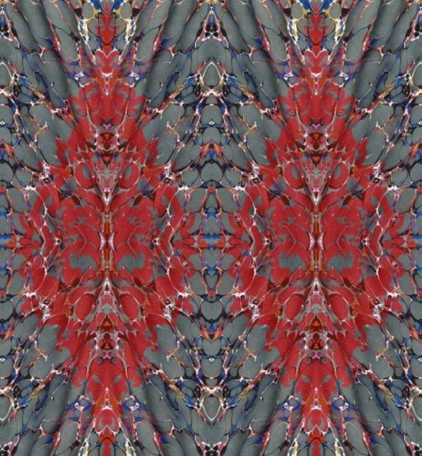 Timorous Beasties Ex Libris velvet upholstery fabric